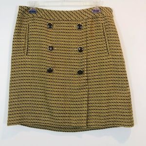 Ann Taylor LOFT SZ 6 Plaid Skirt